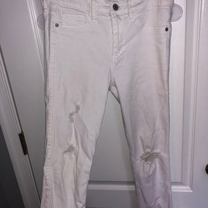 White jeans with holes